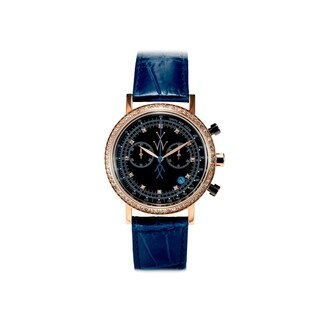 ToyWatch Maya Chrono Black and Blue with Stones MYCS04BK