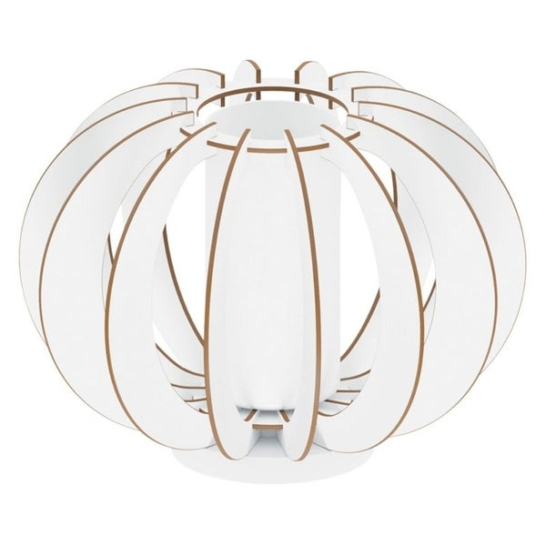 Eglo Stellato 2 Table Lamp with White Finish and Satin Glass