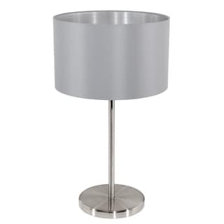 Eglo Maserlo Table Lamp with Silver Shade and Matte Nickel Finish