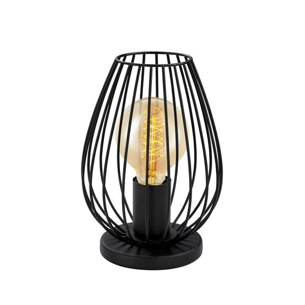 Eglo Newtown Table Lamp with Matte Black Finish