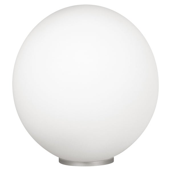 Eglo Rondo White Table Lamp with Silver Finish