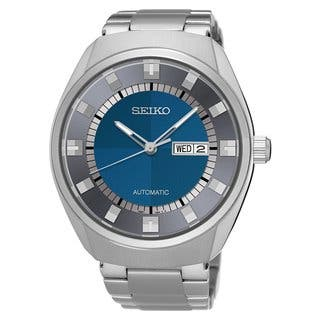Seiko Men's Recraft Automatic SNKN73 Stainless Steel Blue Dial Watch https://ak1.ostkcdn.com/images/products/17682097/P23890242.jpg?impolicy=medium