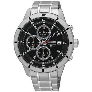 Seiko Men's Chronograph SKS561 Black Dial Stainless Steel Watch