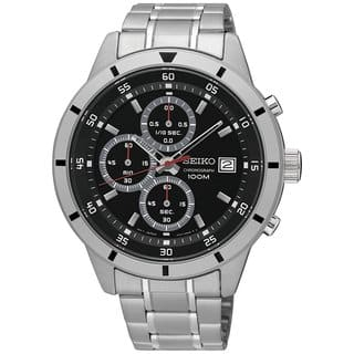 Seiko Men's Chronograph SKS561 Black Dial Stainless Steel Watch https://ak1.ostkcdn.com/images/products/17682113/P23890245.jpg?impolicy=medium