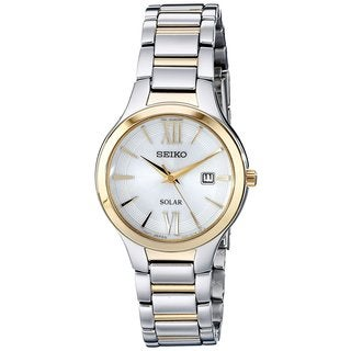 Seiko Women's Core SUT210 Solar Two-Tone Date Watch