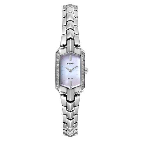 Seiko Women's Tressia Solar Diamond Accent Dress SUP329 Watch