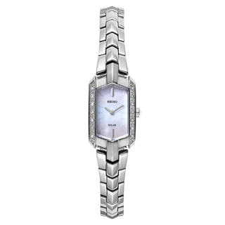 Seiko Women's Tressia Solar Diamond Accent Dress SUP329 Watch