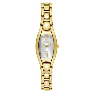 Seiko Core Women's Solar SUP320 Gold-Tone Dress Watch