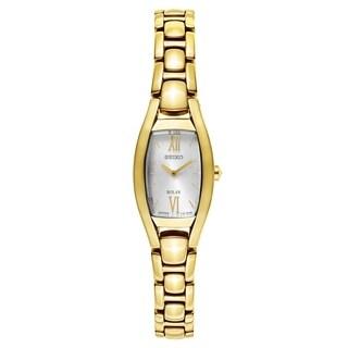 Seiko Core Women's Solar SUP320 Gold-Tone Dress Watch