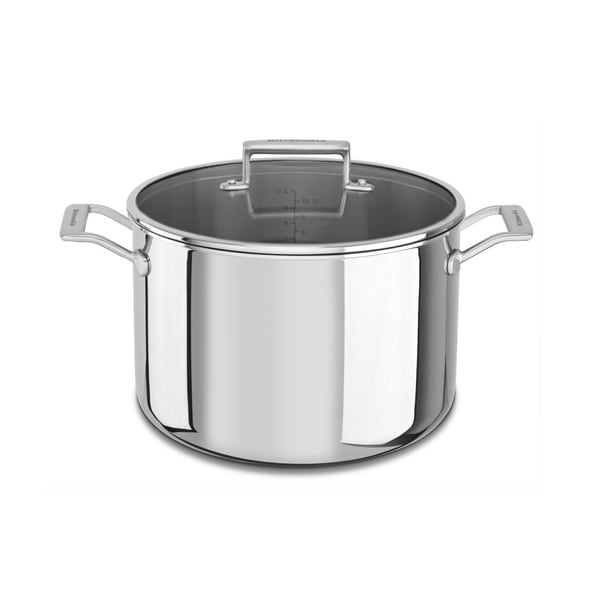 Shop Kitchenaid 16 Qt Tri Ply Stainless Steel Stock Pot