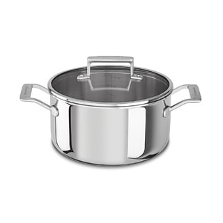 KitchenAid 6 Qt. Tri-Ply Stainless Steel Low Casserole
