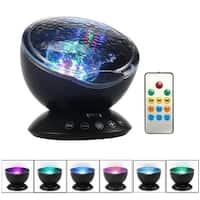 Remote Control Ocean Wave Projector Night Light with Built-in Mini Music Player