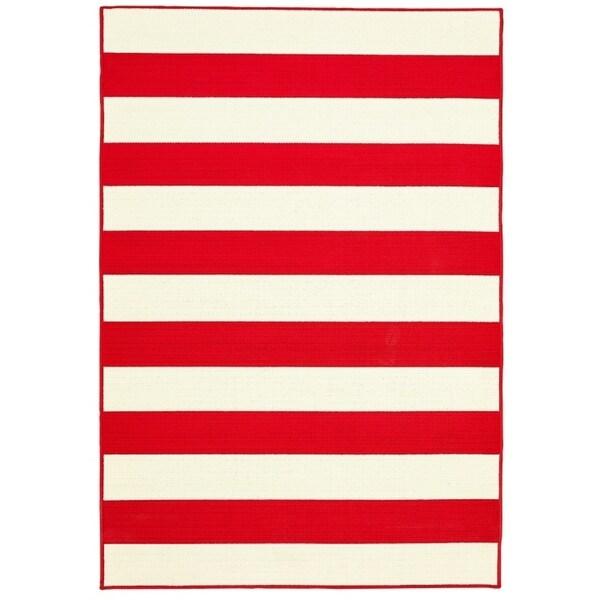 "Awning Stripe Indoor Outdoor Area Rug - 6'7""x9'6""x0.1"""