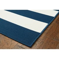 "Awning Stripe Indoor Outdoor Area Rug - 5'x7'3""x0.1"""