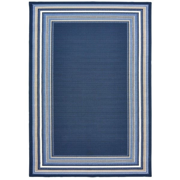 harold navy blue area rug (7'10 x 9'10) - free shipping today