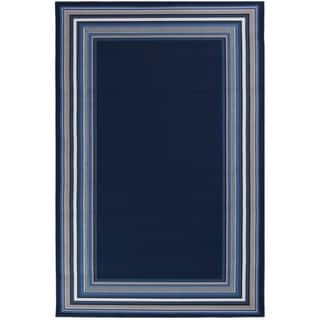 "Harold Navy Blue Area Rug - 7'10"" x 9'10""x0.1"""
