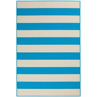 "Awning Stripe Indoor Outdoor Area Rug - 5'x7'3""x0.1"""
