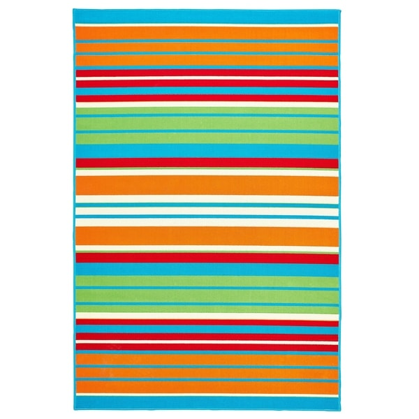 "Allison Stripe Multi Colored Stripe - 5'x7'3""x0.1"""