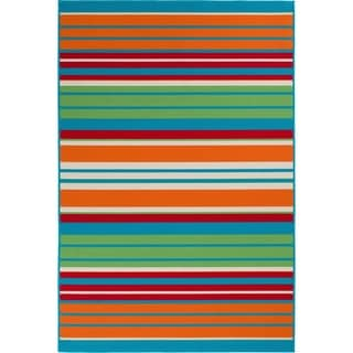 """Allison Stripe Multi Colored Stripe - 5'x7'3""""x0.1"""""""