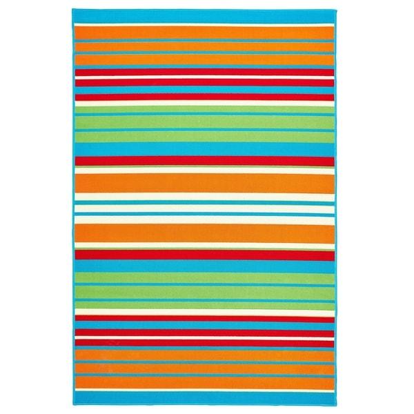 """Allison Stripe Multi Colored Stripe - 6'7""""x9'6""""x0.1"""""""