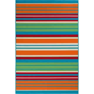 "Allison Stripe Multi Colored Stripe - 6'7""x9'6""x0.1"""