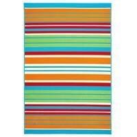 """Allison Stripe Multi Colored Stripe - Turquoise/Green - 7'10"""" x 9'10""""x0.1"""""""