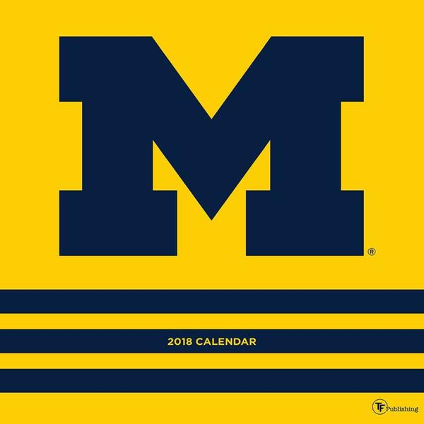 2018 University of Michigan Wall Calendar   Free Shipping On