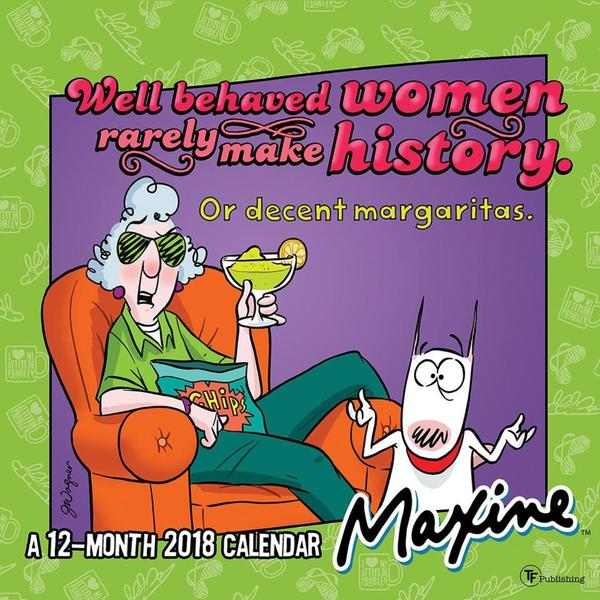 2018 Maxine Wall Calendar