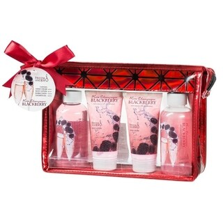 Freida and Joe Rose Champagne Blackberry Red 4-piece Gift Set