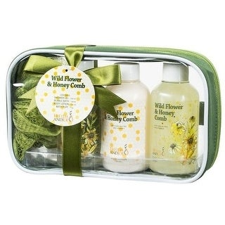 Wildflower Honeycomb stay put Spa In A Bag gift set