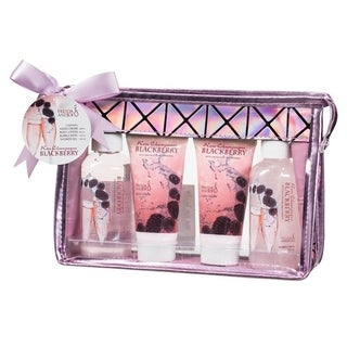 Freida and Joe Rose Champagne Blackberry Pink 4-piece Gift Set