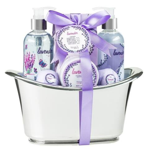 Unwind & Relax with Lavender Large Aromatherapy Bath and Body Spa gift set