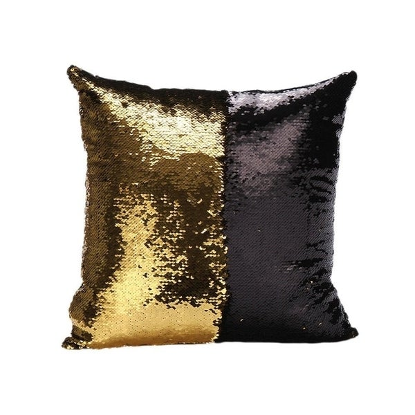Mermaid Sequin Throw Pillow White/Gold (2-Pack)