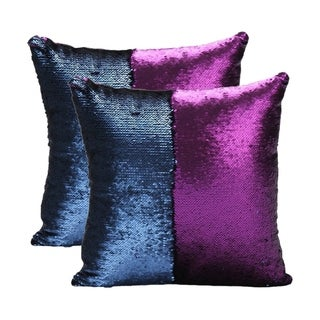Mermaid Sequin Throw Pillow Purple/Blue (2-Pack)
