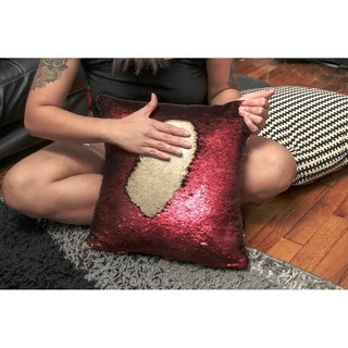 Mermaid Sequin Throw Pillow Red/Gold (2-Pack)