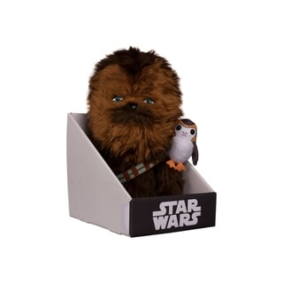 "Comic Images Large (12"") Super-Deformed Plush Star Wars Episode VIII Chewbacca w/Porg"