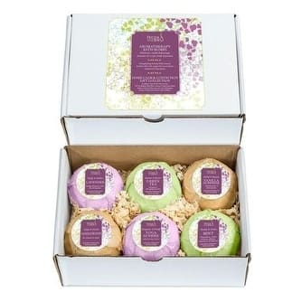 Luxury Aromatherapy Bath Bombs: Deep Body Relaxation Deluxe Gift Set with 6 x 100g Relaxing and Calming Scents