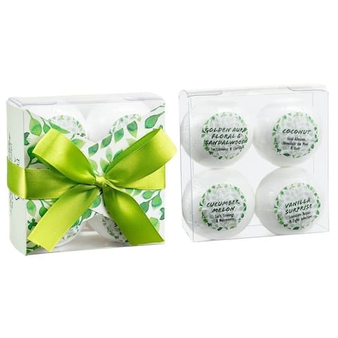 Tranquility Gift Set 4 Bath Bombs with Essential Oils. Enjoy Calm, Reduce Cravings, Healing, Beautiful Aroma