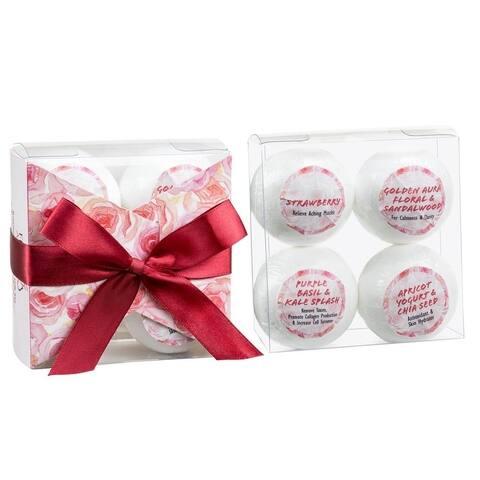 Freida and Joe Romantic Sensuous Bath Bomb Gift Set (Pack of 4)