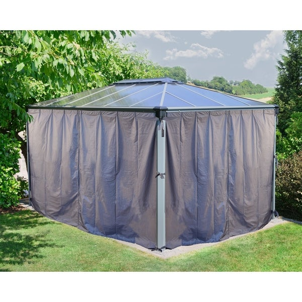 Palram Martinique 4300 14ft x 10ft Gazebo Curtain Set Grey (4-Piece)