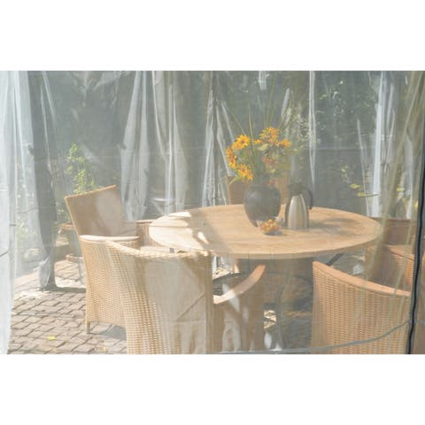 Palram Palermo 4300 14ft x 14ft Garden Gazebo Netting Set Grey (4-Pc)