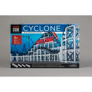 CDX Blocks Brick Construction Cyclone Roller Coaster Building Set