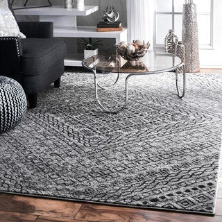 Nuloom Contemporary Overlapping Striped Boards Grey Rug 7