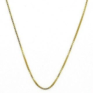 """Classic Necklace Box Design Polished Finish Gold Tone 1 MM 22"""" 18kt. Plated"""