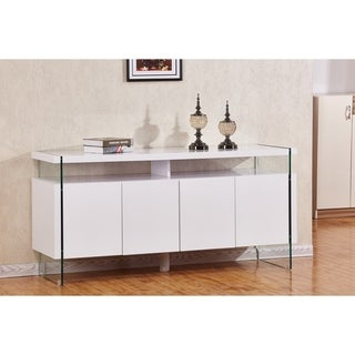 Best Quality Furniture 4-door Lacquer Buffet Server