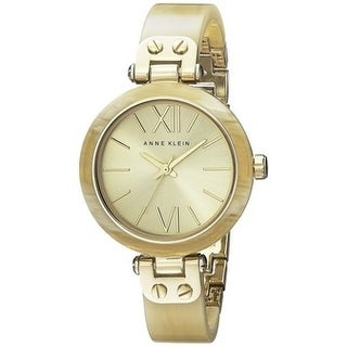 Anne Klein Gold-Tone Horn Plastic Ladies Watch 10-9652CHHN