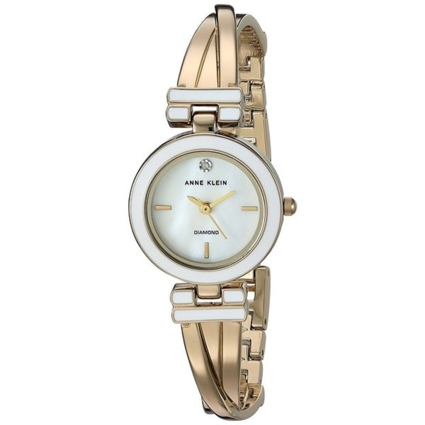 ffee1dde5 Shop Anne Klein Gold-Tone Alloy Ladies Watch AK-2622WTGB - Free Shipping  Today - Overstock - 17695761