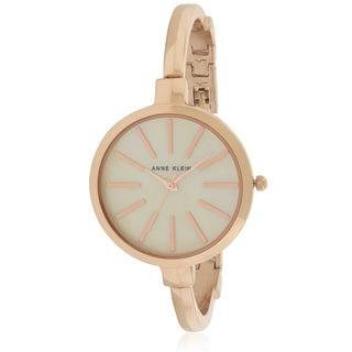 Anne Klein Rose Gold-tone Watch and Bracelet Set Ladies Watch AK-1470RGST