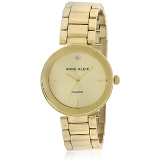 Anne Klein Gold-Tone Stainless Steel Ladies Watch AK-1362CHGB