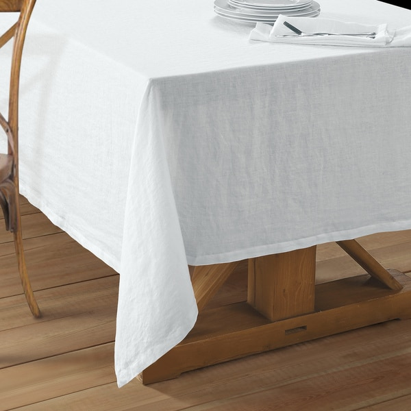 Exceptionnel Washed Belgian Linen Tablecloth